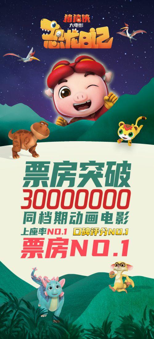 豬豬俠係列大電影《豬豬俠大電影·恐龍日記》票房破3000萬