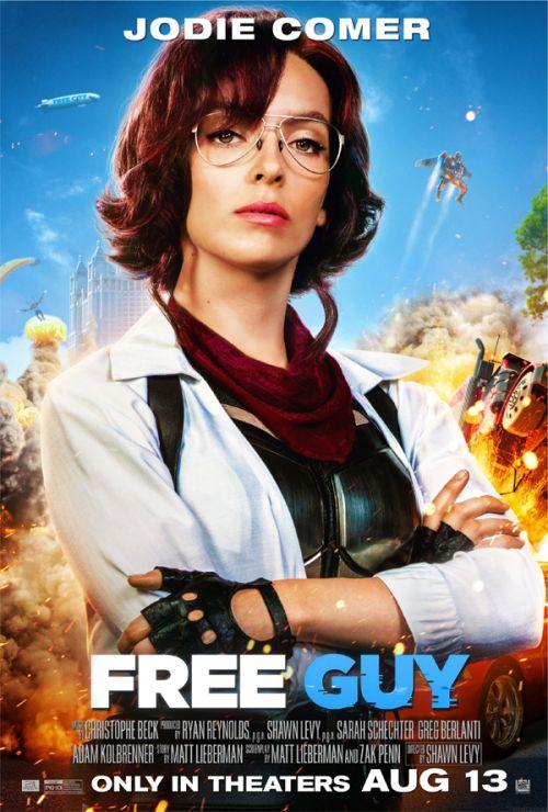 动作喜剧《失控玩家》发布角色海报!瑞安雷诺兹-朱迪科默等全员集结