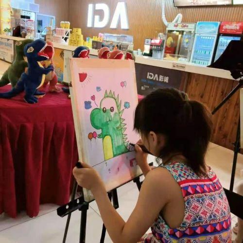 第二届儿童电影文化展《我是霸王龙》主题绘画活动举办