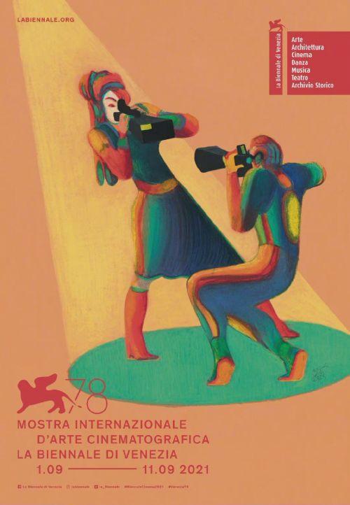第78届威尼斯国际电影节公布主视觉海报,9月1日至9月11日举行