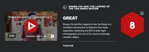 《尚气》IGN和GS全8分:武打超炫 原谅过去 广告太多