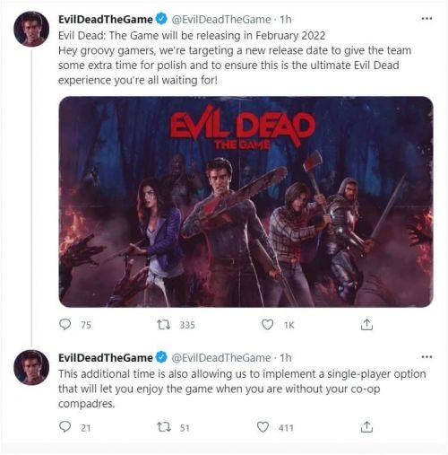 电影改编游戏《鬼玩人》跳票至2022年2月推出