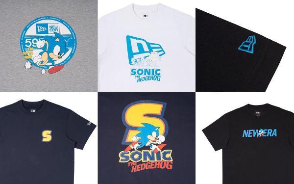 超人气电玩New Era X SONIC音速小子系列跨界帽款、潮T、帽子真的太可爱了!