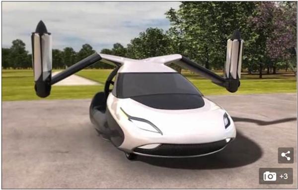 """全球首款飞行汽车下月开卖 一分钟内完成驾驶-飞行模式""""变身"""""""