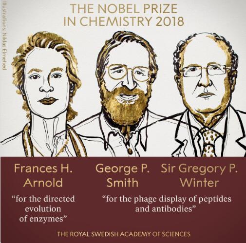 2018年诺贝尔化学奖揭晓 美英三名科学家摘走诺奖其中有一名女性