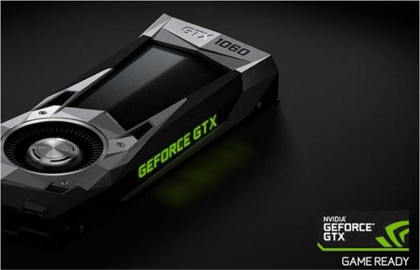 英伟达发布新一代GeForce GTX 1060显卡 6GB GDDR5X显存大幅提升显像清晰度