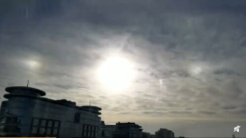 幻日!北京上空出现三个太阳 专家:一种常见光学现象,并无特殊意义