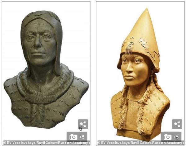 """靠着半个头骨,科学家成功重现2600年前西伯利亚""""沙皇""""的面貌"""