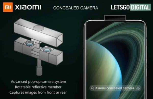创意!小米潜水双向相机专利曝光 可以自拍、录视频、解锁手机