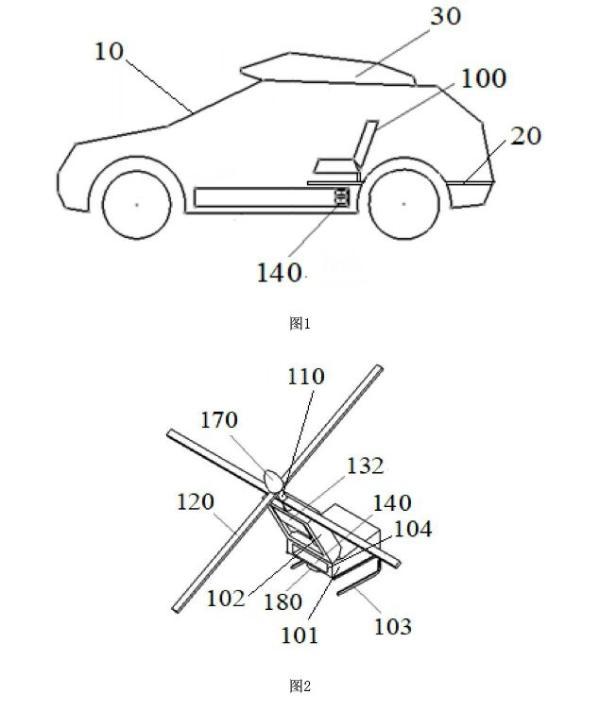 东风汽车公开便携旋翼式单人飞行器专利,可实现单人空中飞行