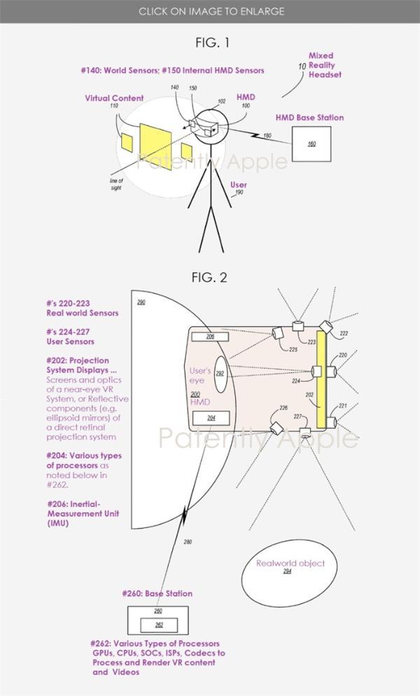 苹果VR头显新专利曝光:配备多个摄像头,可连接iPhone、iPad等设备