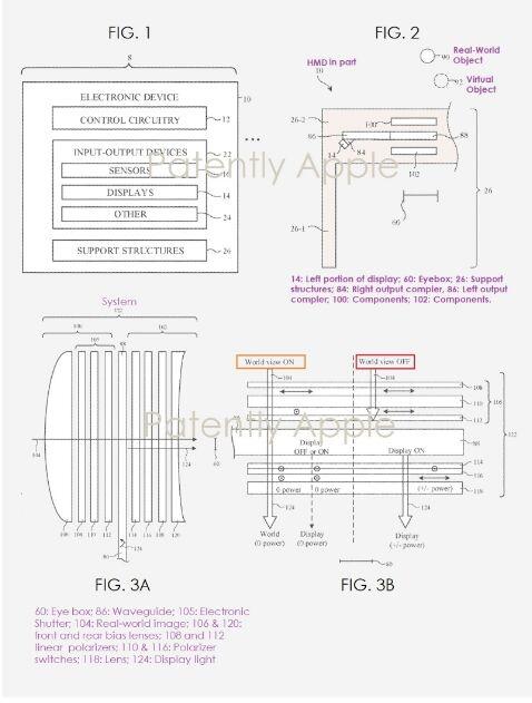 苹果公布带几何相位透镜系统的AR头显专利 可精确融合真实世界和虚拟世界内容