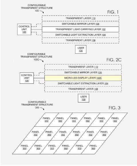 苹果造车又获新专利:汽车内有玻璃的地方将采用智能玻璃 可提供照明