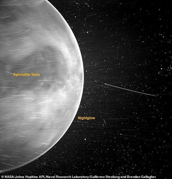 相距万里!帕克太阳探测器拍摄到不可思议的金星照片,最大高原区清晰可见