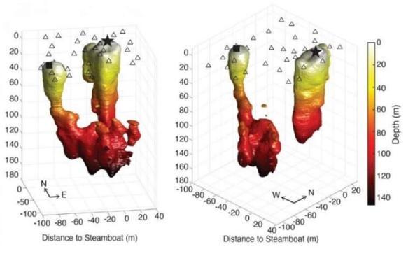 """科学家给世界上最高间歇泉""""照全身像"""" 首次看清100米深内部管道结构"""