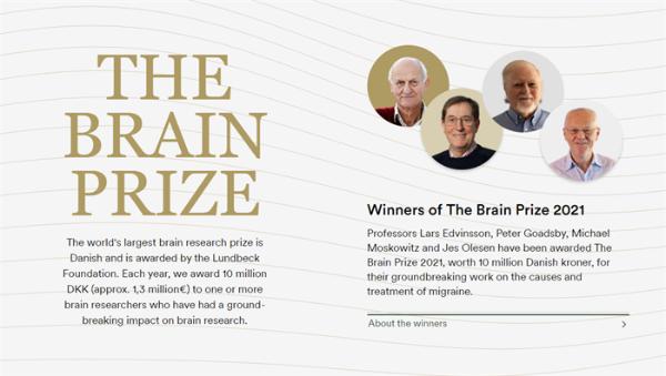"""110万英镑!偏头痛机制发现者获得""""神经学界诺贝尔奖"""""""