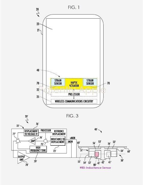 苹果提交Taptic Engine触觉专利 引入电感传感器未来可取代虚拟键盘的物理按键