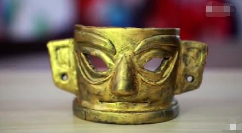 一模一样!匠人用大米做出三星堆黄金面具,望提高非遗传承关注度