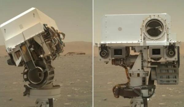 """可爱!NASA新火星漫游车发来史上最甜自拍照,卖萌不输""""好奇号"""""""