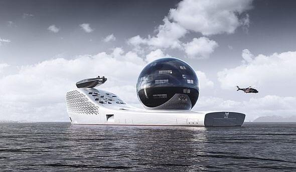 """海上版""""流浪地球""""!欧美联手打造核动力科学探索船:长300米,载超大球体"""