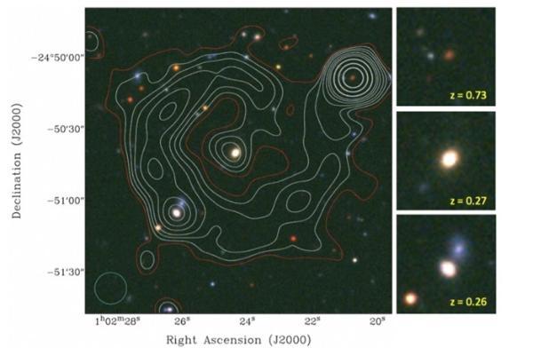 """直径97.8万光年!银元星系附近出现神秘""""电波怪圈"""",天文学家给出3种猜测"""