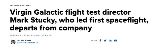 成功飞上太空后,布兰森开掉了他的首席试飞员