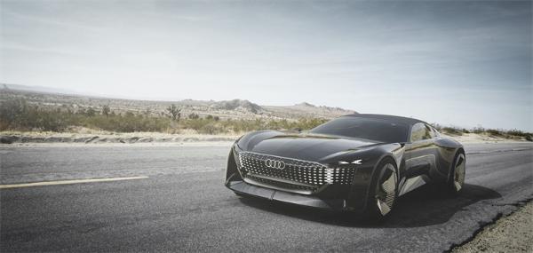 奥迪推出全新Skysphere电动概念车 车身如变形金刚般伸缩自如