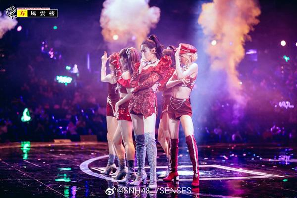 SNH48 7SENSES夺东方风云榜最受欢迎组合 献回归首秀
