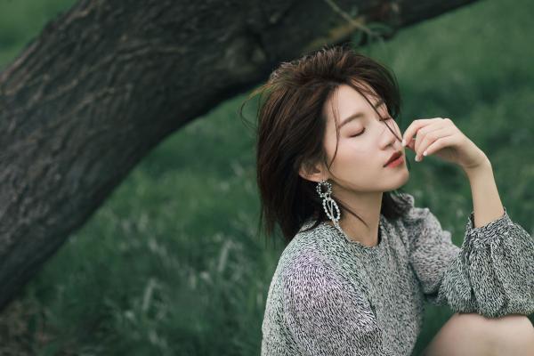 苏青夏日森女仙气撩人 清新氧气颜气质满分