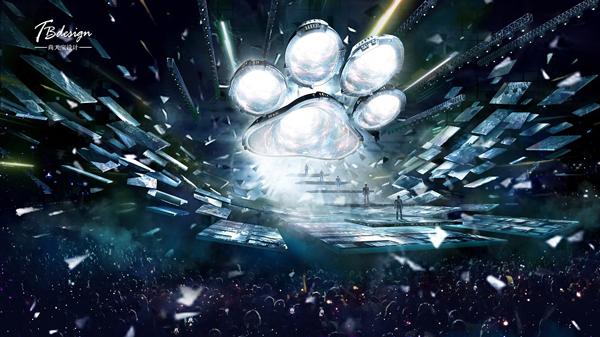 《百度好奇夜》揭秘出神入化的舞美魔法