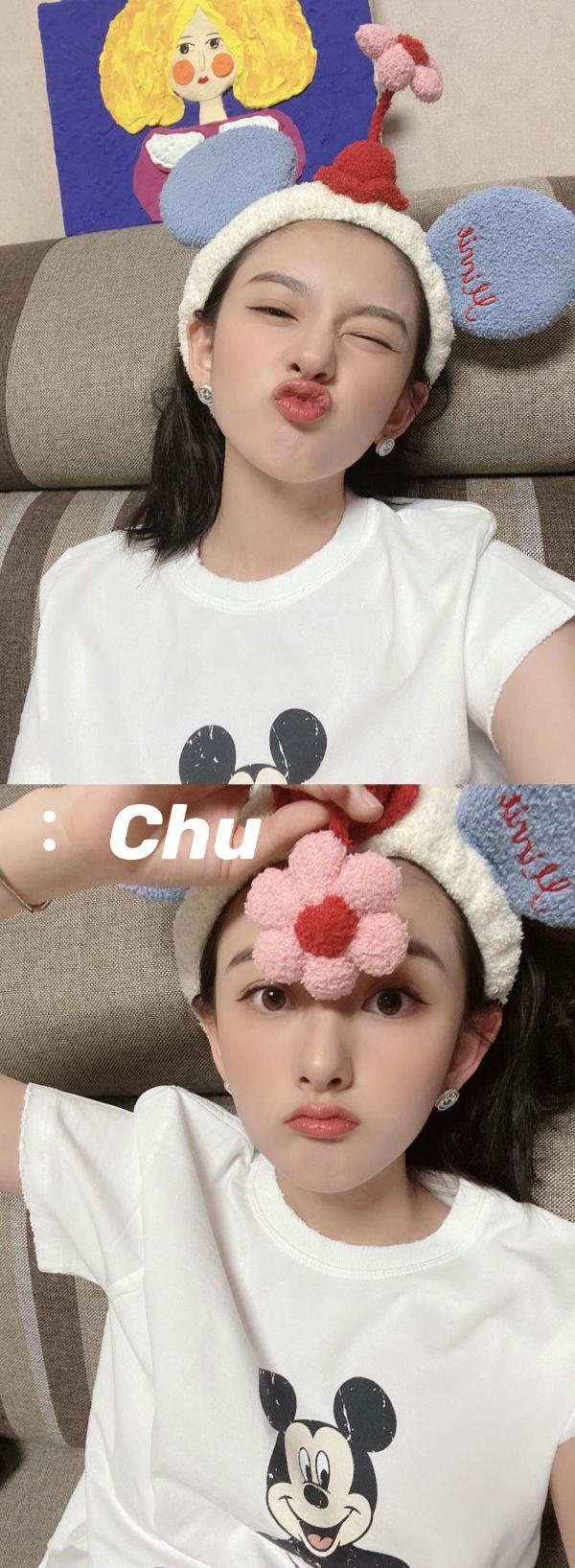 宋祖儿分享近期自拍 洋溢童趣少女气息