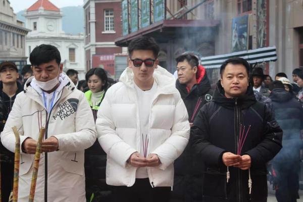 康磊参与电影《一号特工》横店开机仪式