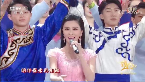 """伊丽媛登央视春晚众望所归 高流量""""春晚霸屏女神"""""""