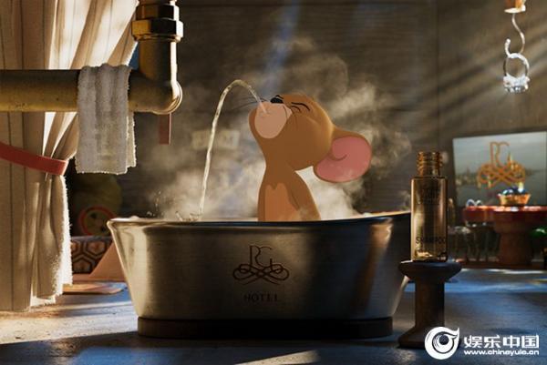 """《猫和老鼠》曝""""天生一对""""版预告 杰瑞邀你电影院花式撸汤姆"""