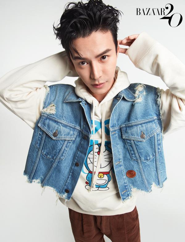 王冠逸登Harper's Bazaar MAN封面 率性潇洒玩转潮酷穿搭