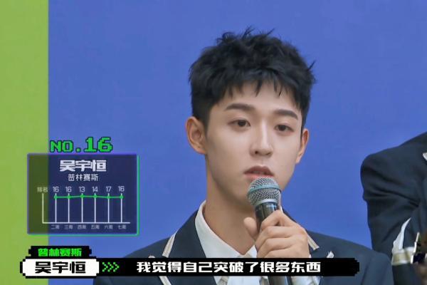 《创造营2021》第二次顺位发布 吴宇恒第十六名顺利晋级
