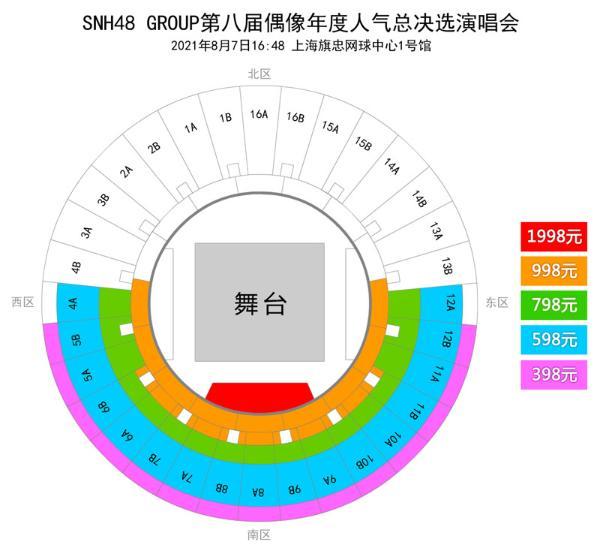 SNH48 GROUP第八届年度总决选演唱会门票7月19日正式开售