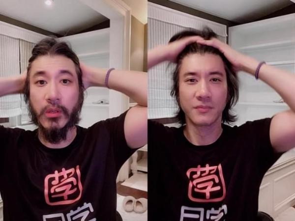 """王力宏一小时直播卖600万""""月学""""课程 开心到剃须"""