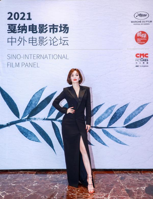 卢靖姗传递女性力量 出席戛纳中外电影论坛自信从容