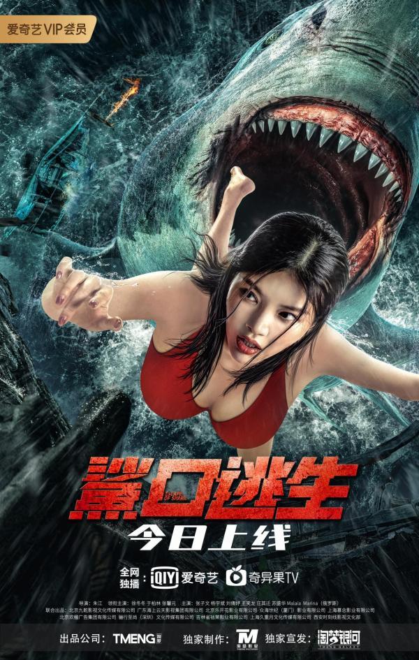 电影《鲨口逃生》今日爱奇艺独播上线 美女肉搏狂暴巨鲨 生猛刺激清凉一夏