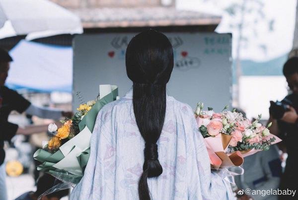 Angelababy《风起陇西》古装造型曝光 温婉淡雅质感十足