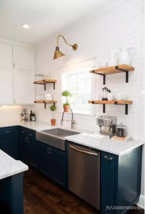 北欧风格的厨房设计 北欧风格是小户型厨房设计的首选风格,一般都会