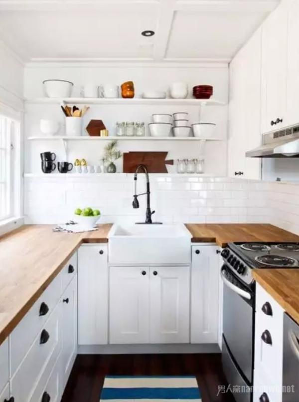 北欧风格的厨房设计 北欧风格是小户型厨房设计的首选风格,一般都会设