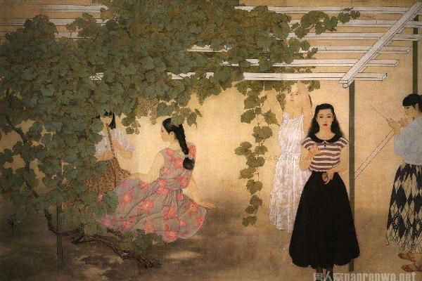 何家英画作《秋暝图》告诉你国画中凸现主宾的重要性
