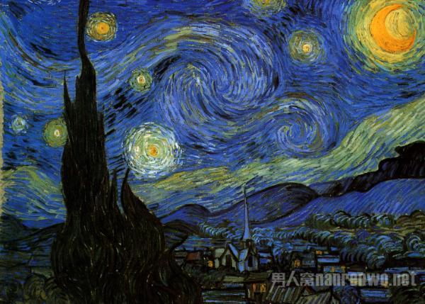 悲惨画家梵高的作品 色彩艳丽狂放对生命桀骜不驯