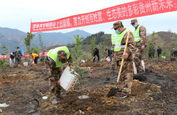 望谟县人武部参加2021年义务植树活动
