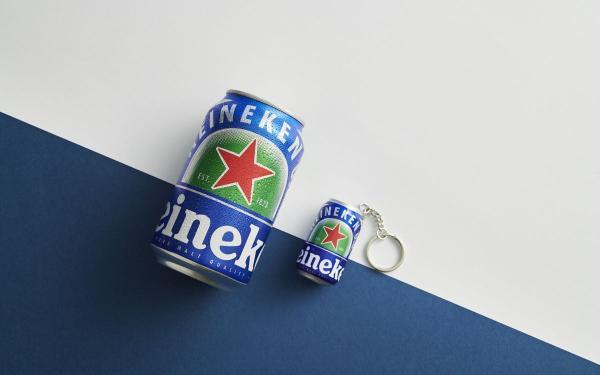 太可爱!海尼根0.0零酒精3D啤酒罐造型悠游卡,5厘米尺寸Q萌到爆