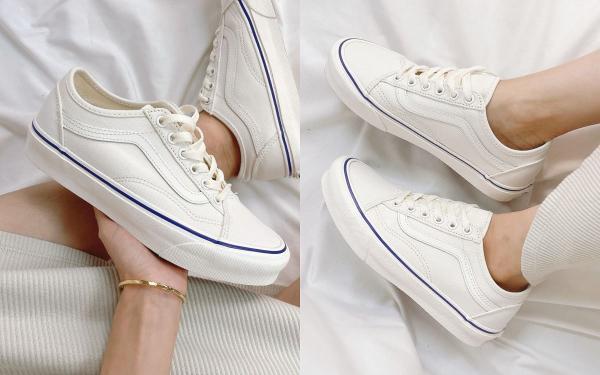 VANS必买新款TOP1!激美零死角奶油小白鞋复古外型显腿长,官网优惠了!