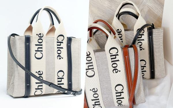 Chloe爆款woody字母托特包迷你背带款来了!大牌精品超低价入手!
