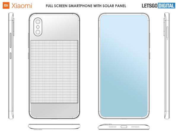 未来不用充电了?小米新专利曝光:背面集成太阳能电池板
